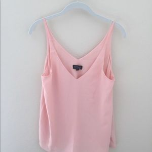 Topshop silky pink tank top